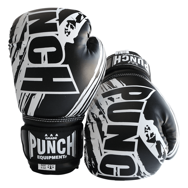 Punch Equipment Boxing Gloves Black Kids / Junior AAA Boxing Gloves 6oz - Punch Equipment
