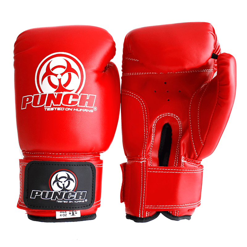 Punch Equipment Boxing Gloves Red Kids / Junior Urban Boxing Gloves 4oz - Punch Equipment