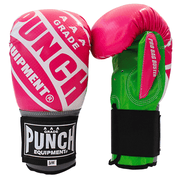 Punch Equipment Boxing Gloves Pink with Green / Small/Medium Pro Bag Busters Commercial – Bag Boxing Mitts - Punch Equipment