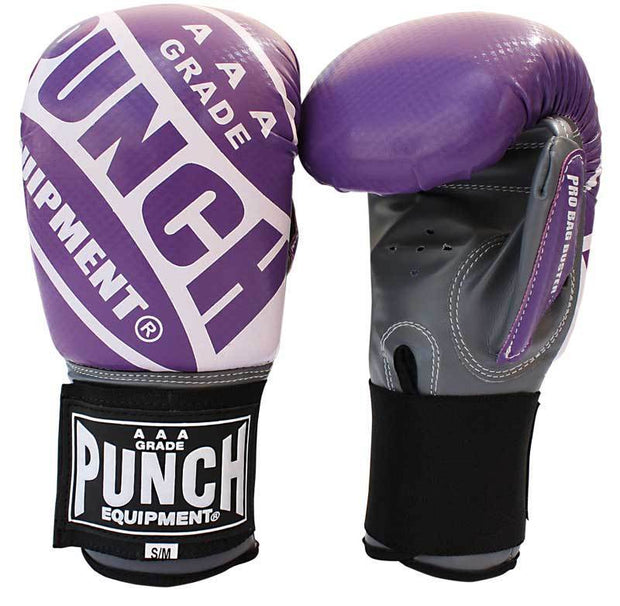 Punch Equipment Boxing Gloves Purple with Grey / Small/Medium Pro Bag Busters Commercial – Bag Boxing Mitts - Punch Equipment