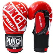 Punch Equipment Boxing Gloves Red with White / Small/Medium Pro Bag Busters Commercial – Bag Boxing Mitts - Punch Equipment