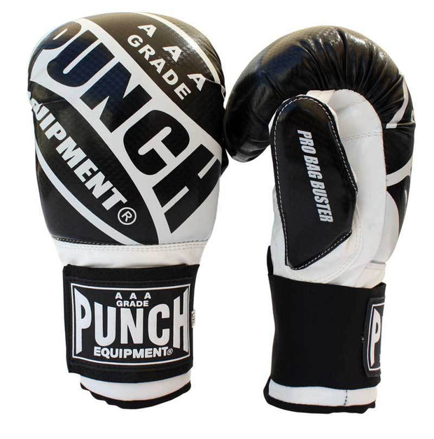 Punch Equipment Boxing Gloves White with Black / Small/Medium Pro Bag Busters Commercial – Bag Boxing Mitts - Punch Equipment