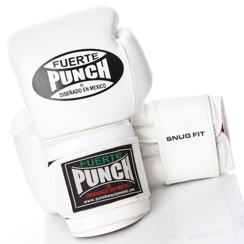 White Punch Mexican Fuerte Elite Boxing Gloves