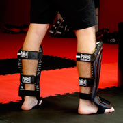 Precision Black Diamond Muay Thai Shin Pads - Punch
