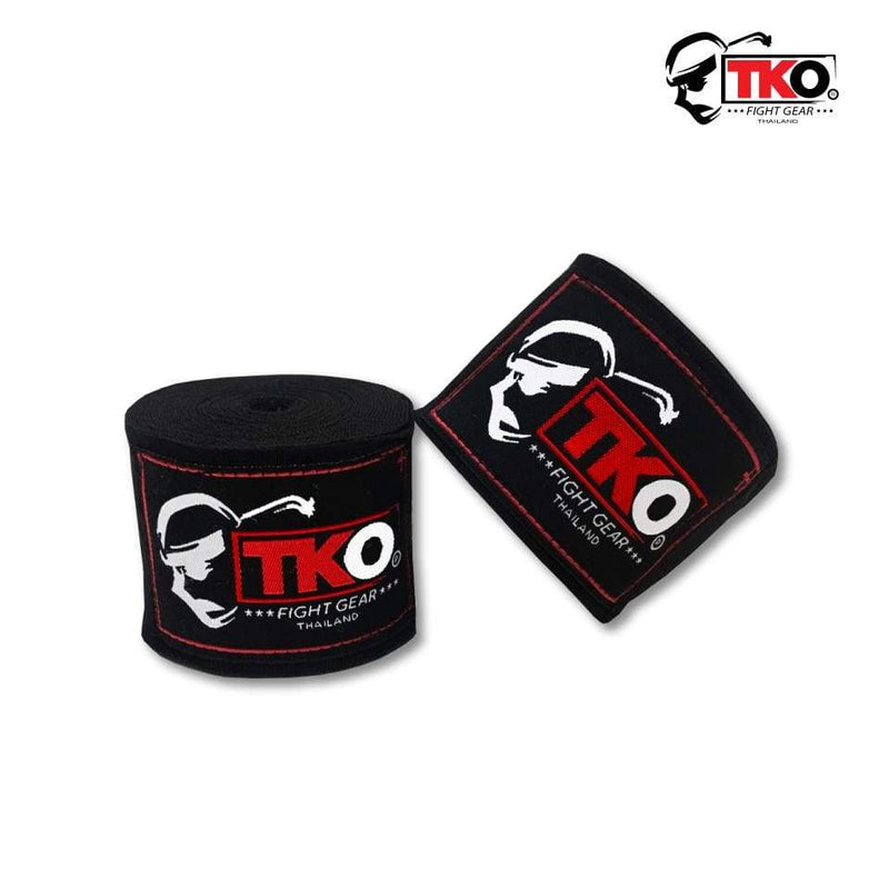 TKO Hand Wraps Black TKO Boxing Hand Wraps