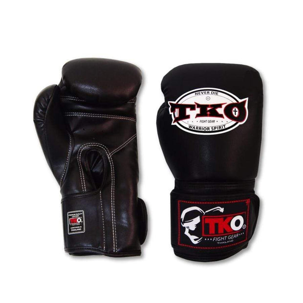 TKO Boxing Gloves 6oz / Black TKO Mexican Style Microfiber Leather Boxing Gloves