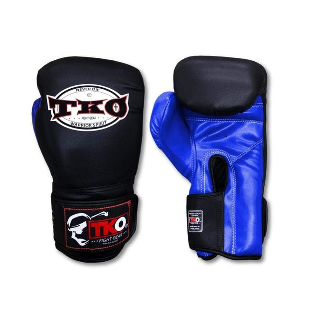 TKO Boxing Gloves 6oz / Blue TKO Mexican Style Microfiber Leather Boxing Gloves