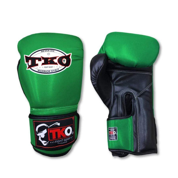 TKO Boxing Gloves 6oz / Green TKO Mexican Style Microfiber Leather Boxing Gloves