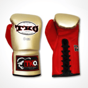 TKO Boxing Gloves 6oz / Gold/Red TKO Microfiber Leather Boxing Gloves (Lace Up)