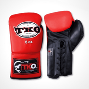 TKO Boxing Gloves 6oz / Red/Black TKO Microfiber Leather Boxing Gloves (Lace Up)