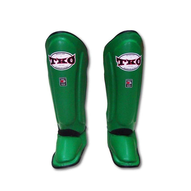 TKO Shin Pads Small / Green TKO Microfiber Leather Shin Guards