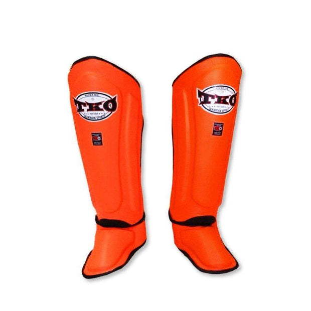 TKO Shin Pads Small / Orange TKO Microfiber Leather Shin Guards