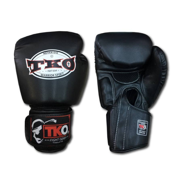 TKO Boxing Gloves 4oz / Black TKO Muay Thai Microfiber Leather Boxing Gloves