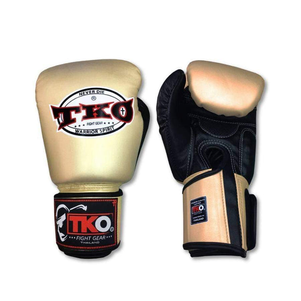 TKO Boxing Gloves 4oz / Gold TKO Muay Thai Microfiber Leather Boxing Gloves