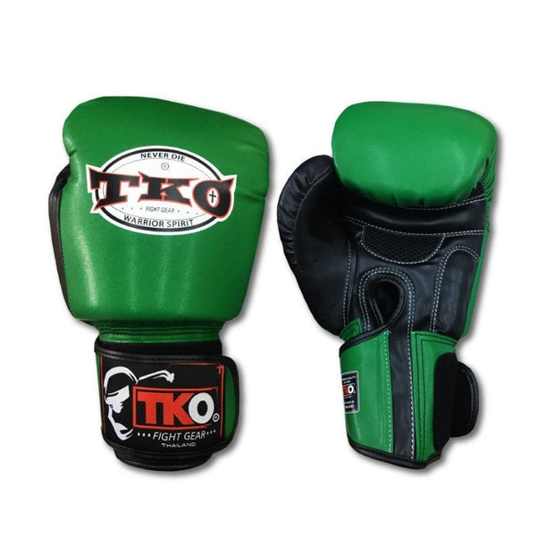 TKO Boxing Gloves 4oz / Green TKO Muay Thai Microfiber Leather Boxing Gloves