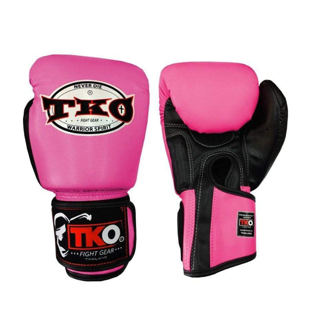 TKO Boxing Gloves 4oz / Pink TKO Muay Thai Microfiber Leather Boxing Gloves