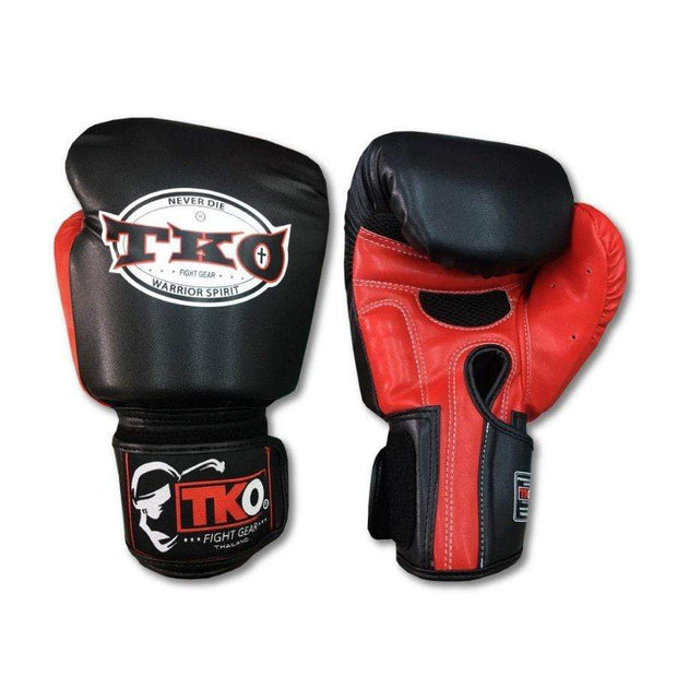 TKO Boxing Gloves 4oz / Red TKO Muay Thai Microfiber Leather Boxing Gloves
