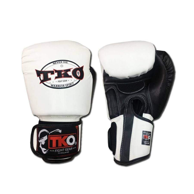 TKO Boxing Gloves 4oz / White TKO Muay Thai Microfiber Leather Boxing Gloves
