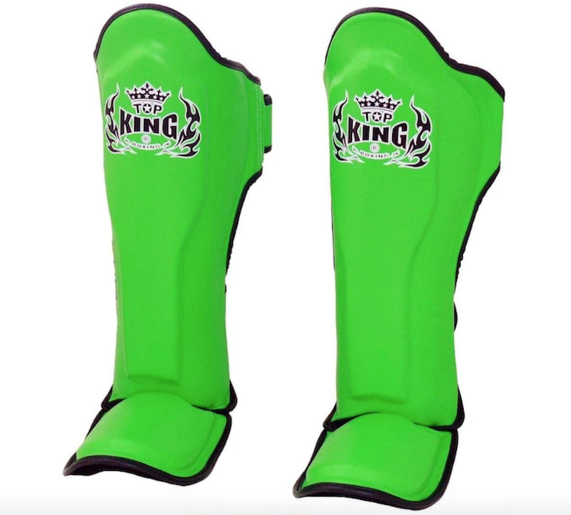 "Top King ""Pro"" Leather Shin Guards"