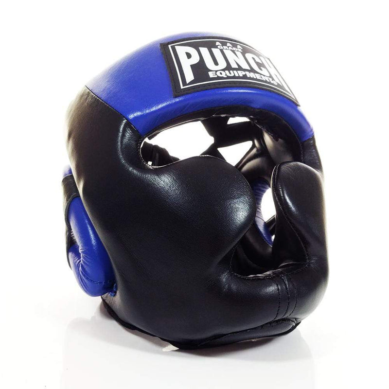 Punch Equipment Headgear Medium / Blue with Black Trophy Getters Full Face Boxing Headgear - Punch Equipment
