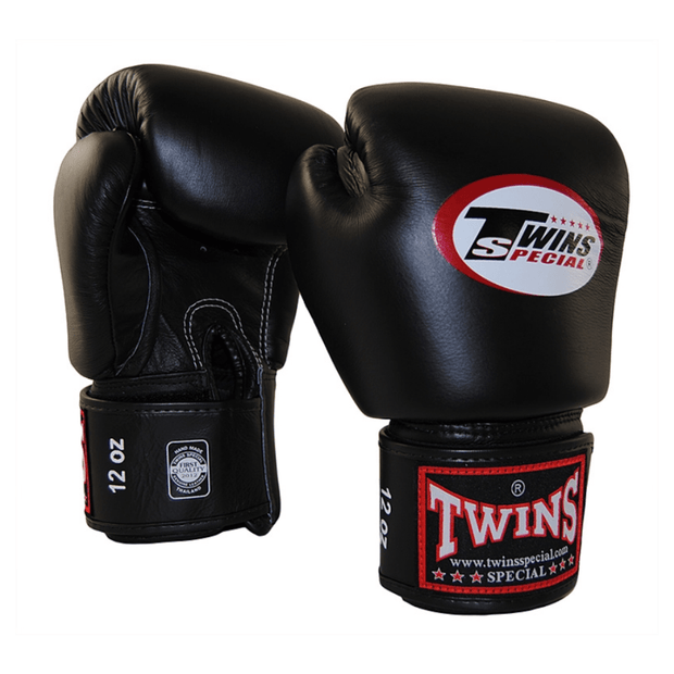 Twins Special Boxing Gloves 10oz / Black Twins Special Muay Thai Boxing Gloves (BGVL-3)