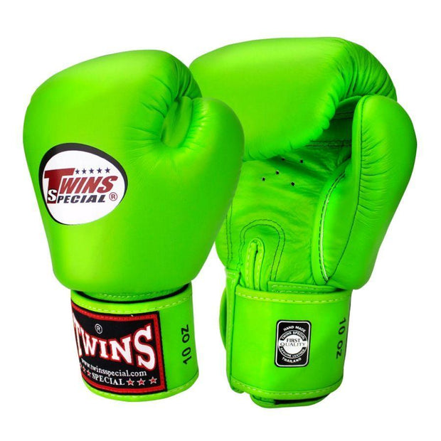 Twins Special Boxing Gloves 10oz / Green Twins Special Muay Thai Boxing Gloves (BGVL-3)