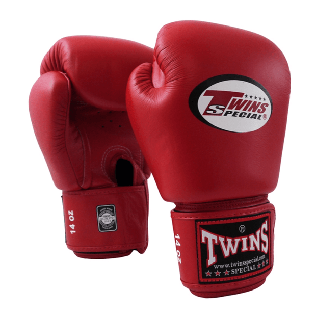 Twins Special Boxing Gloves 10oz / Red Twins Special Muay Thai Boxing Gloves (BGVL-3)