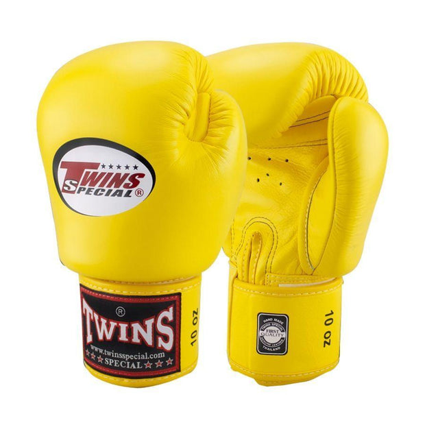 Twins Special Boxing Gloves 10oz / Yellow Twins Special Muay Thai Boxing Gloves (BGVL-3)