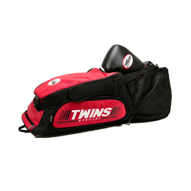 Twins Special BAG-5 Convertible Extended Backpack Red Open