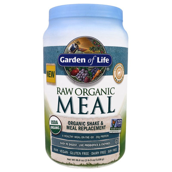 Garden of Life - Raw Organic Vegan Meal Replacement Shake - 1038g / 36.6oz - 4 Flavours to Choose