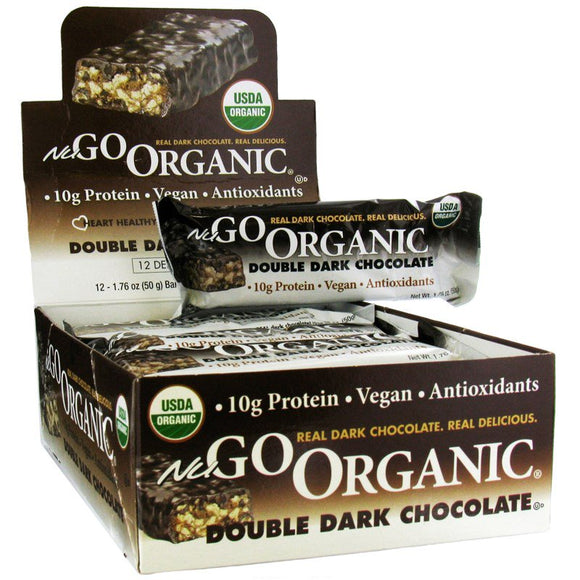 NuGo Nutrition - Vegan Protein Bars - 12 Bars - 50 g Each - 4 Dark Chocolate Flavours to Choose