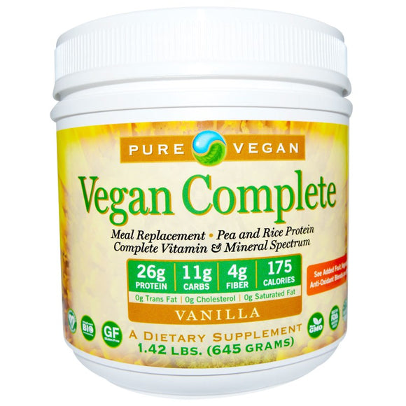 Pure Advantage - Pure Vegan - Complete Meal Replacement - Vitamin & Mineral Spectrum - Vanilla - 1.42 lbs / 645g