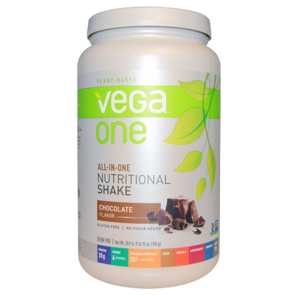 Vega One - All-In-One Vegan Nutritional Protein Shake - 29.4 fl oz / 834 g - 7 Flavours to Choose - Non GMO, Gluten Free