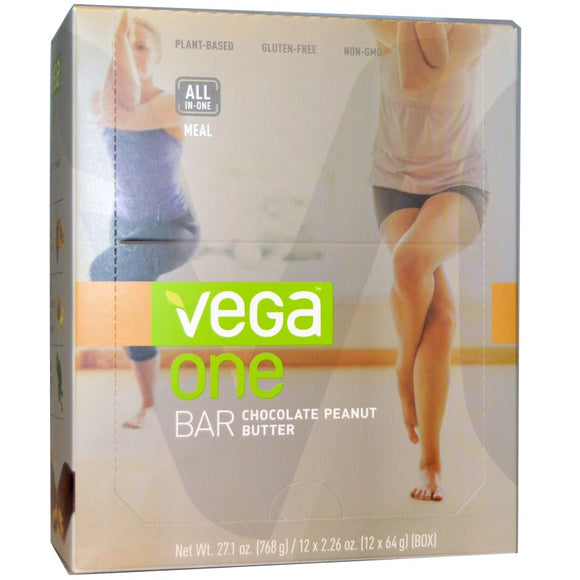 Vega One - Nutritional Protein Bar - 2 Flavours to Choose - 12 Bars (64g / 2.26oz Each)