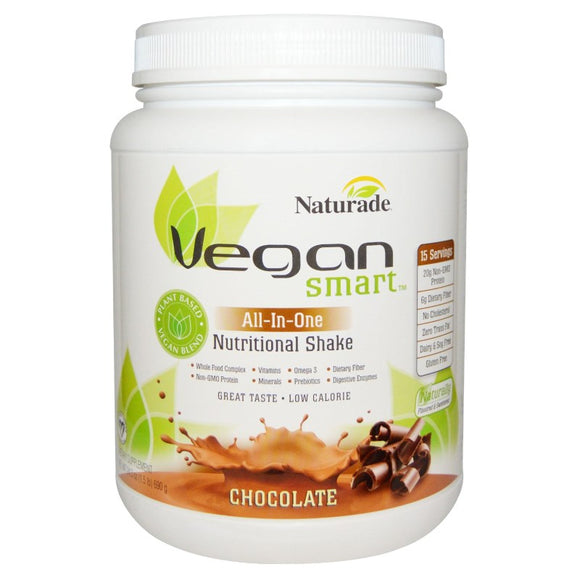 Naturade - Vegan Smart - All-In-One Nutritional Shake - Chocolate - 690g - Gluten, Dairy & Soy Free