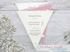 Buttons Deluxe Bunting Wedding Invitation, Wedding Invitation - Postman's Knock Stationery