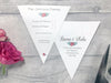 Rosebud Double Flag Bunting Invitation, Wedding Invitation - Postman's Knock Stationery
