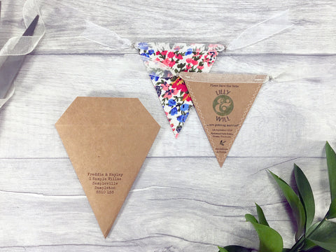 Rustic Kraft Mini Bunting Save the Date,  - Postman's Knock Stationery