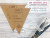 Rustic Kraft Deluxe Triple Bunting Invitation, Wedding Invitation - Postman's Knock Stationery