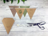 Rustic Kraft Double Flag Bunting Invitation, Wedding Invitation - Postman's Knock Stationery