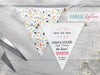 Whimsical Fonts Mini Bunting Save the Date,  - Postman's Knock Stationery