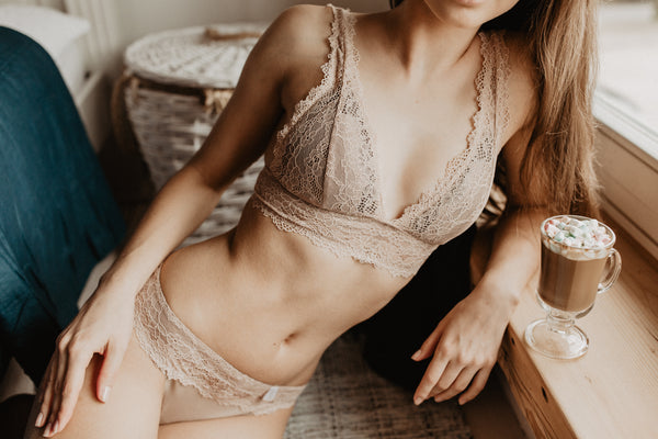 Lingerie set ' Bloom' in nude