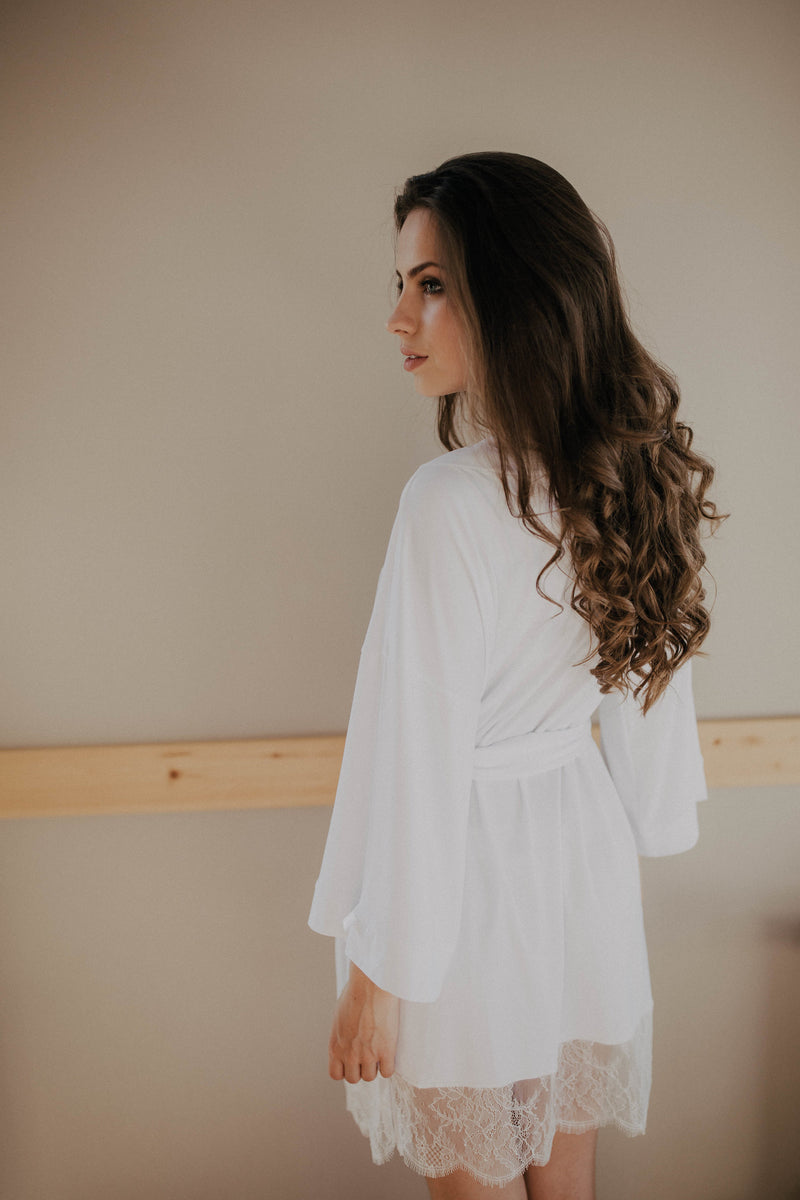 Cloud bridal robe