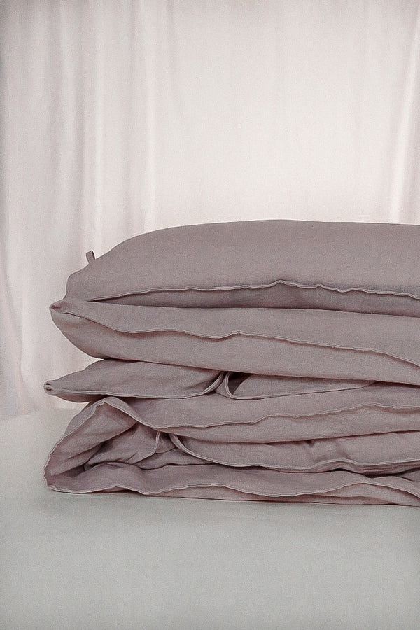 Linen duvet cover double