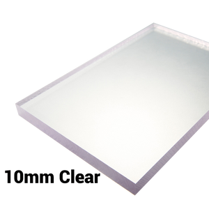 10mm Sheet Screen Polycarbonate Solid Clear Sheet Double Sided UV Protection Cut to Size Width 500mm & 610mm & 1000mm & 1220mm