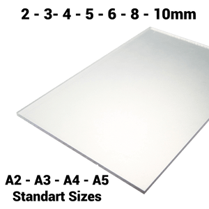 A2 A3 A4 A5 Standard & Bespoke Sizes 2mm 3mm 4mm 5mm 6mm 8mm 10mm Sheet / Screen / Polycarbonate Solid Clear Sheet Double Sided UV Protection