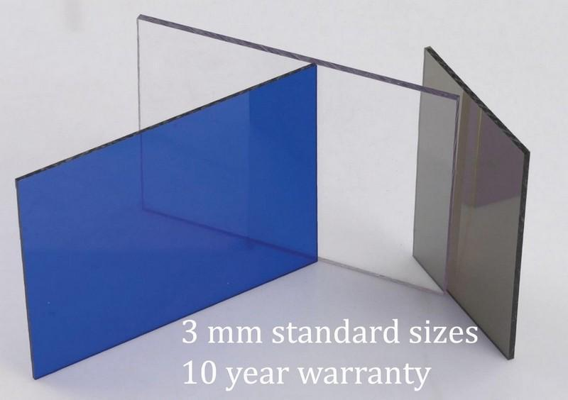 3mm Standard Sizes Blue Polycarbonate Solid Sheets - Decoridea