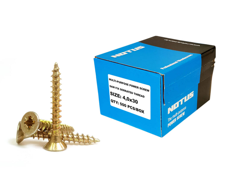 Multi Purpose Power Screws Yellow Galvanized From £3.74 - Decoridea.co.uk
