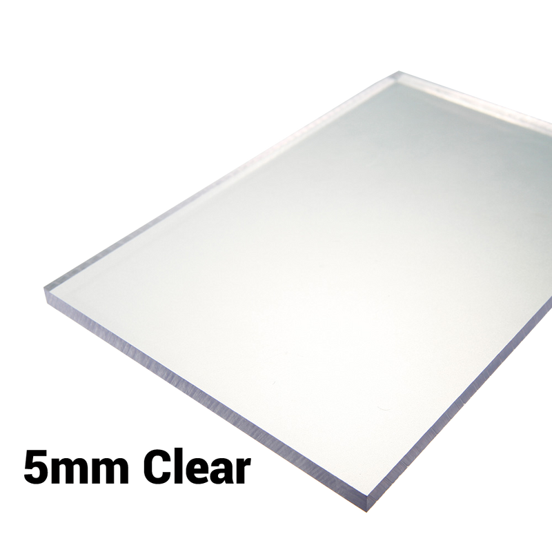 5mm Sheet / Screen / Polycarbonate Solid Clear Sheet Double Sided UV Protection Cut to Size Width 500mm & 610mm & 1000mm & 1220mm