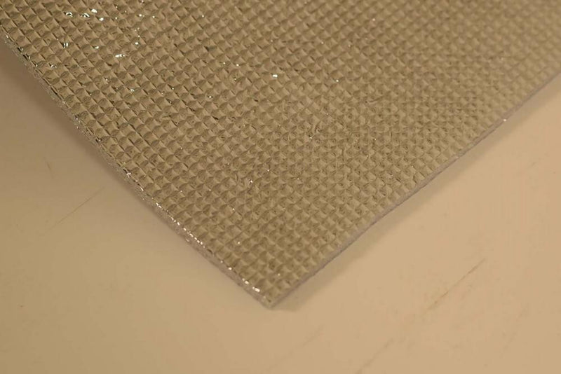 5mm Foil EPE Foam Insulation Underlay Double Side Grid Silver Colour Square Metre Price is £3.25 - Decoridea.co.uk